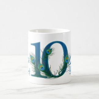 Number 10 / 10th numeric 100% custom mug