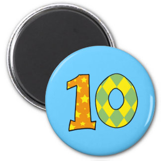Number 10 2 inch round magnet
