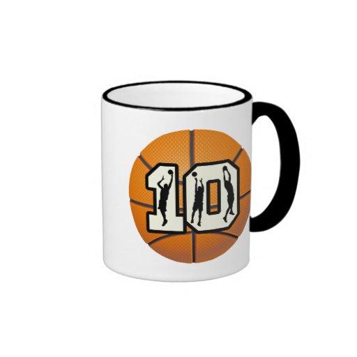 Number 10 Basketball and Players Mugs