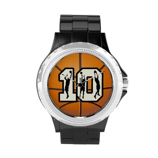 Number 10 Basketball Wrist Watches