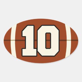 Number 10 Football Sticker