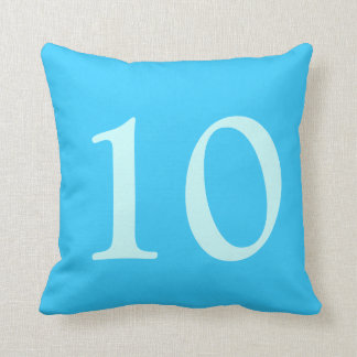Number 10 pillows