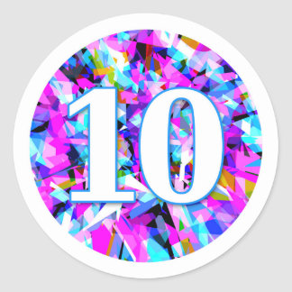 Number 10 - Round Sticker