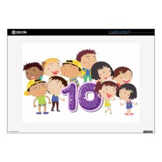 """Number 10 15"""" laptop skin"""