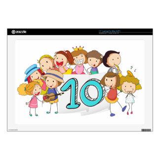 """Number 10 17"""" laptop skin"""