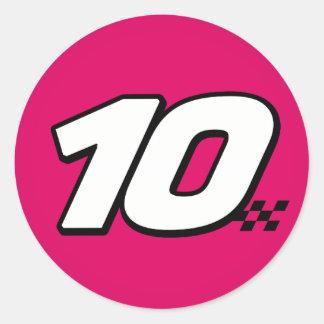 Number 10 - Sticker