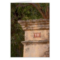 Number 10 Stone Gatepost in Provence Card