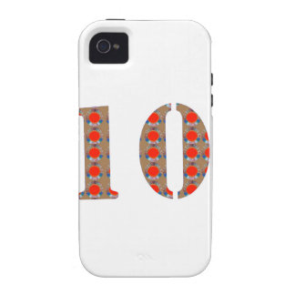 Number 10 TEN Birthday Anniversary REMEMBERANCE Vibe iPhone 4 Covers