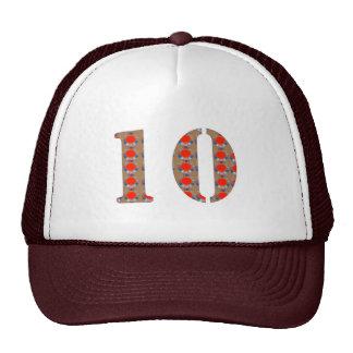 Number 10 TEN Birthday Anniversary  REMEMBERANCE Trucker Hat