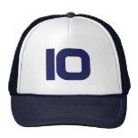 Number 10 trucker hat