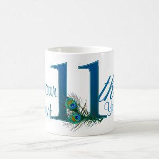 Number 11 / 11th 100% custom text design mug