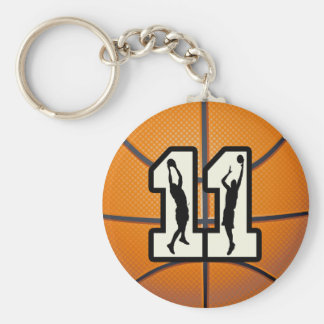 Number 11 Basketball and Players Key Chains