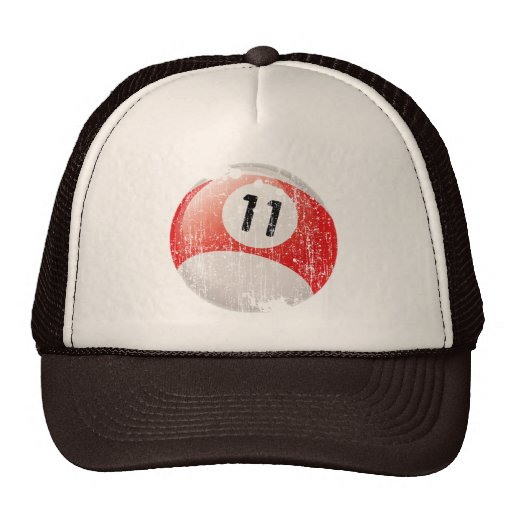 NUMBER 11 BILLIARDS BALL - ERODED STYLE TRUCKER HAT