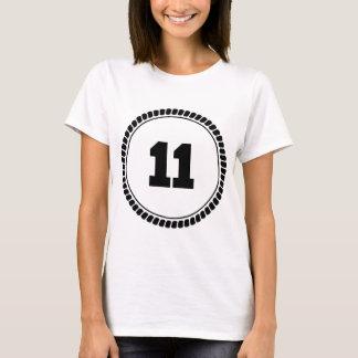 Number 11 Circle T-Shirt