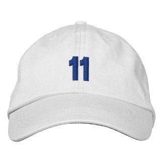 Number 11 Personalized Adjustable Hat