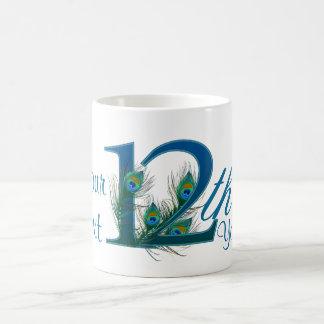 Number 12 / 12th 100% custom text design mug