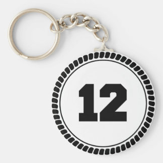 Number 12 keychain