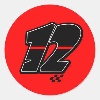 Number 12 - Sticker