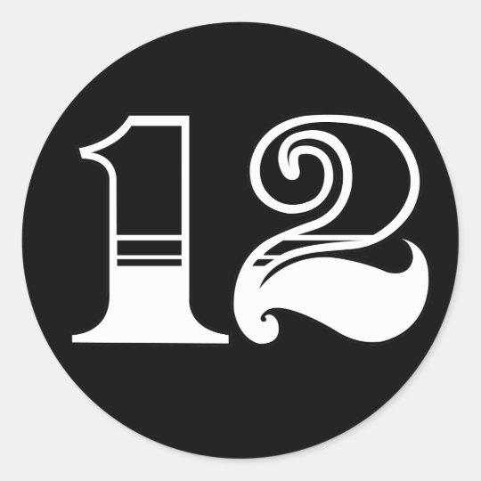 Number 12 Sticker