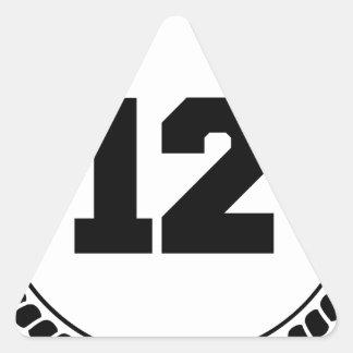 Number 12 triangle sticker