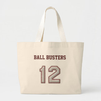 Number 12 with Cool Baseball Stitches Look Large Tote Bag