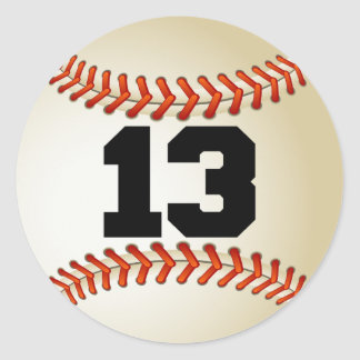 Number 13 Baseball Stickers