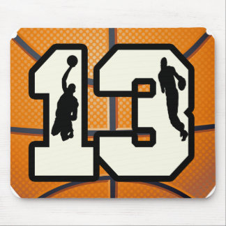 Number 13 Basketball and Players Mouse Pad