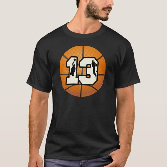 Number 13 Basketball and Players T-Shirt