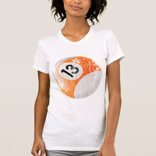 NUMBER 13 BILLIARDS BALL - AGED AND ERODED T-Shirt