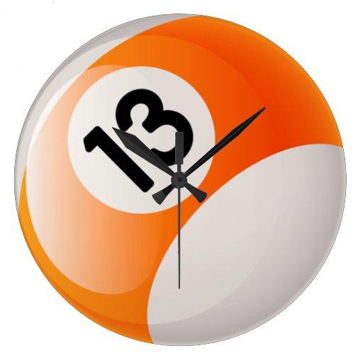 Number 13 Billiards Ball Clock