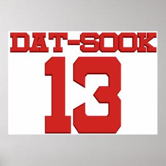 Number 13 Dat SOOK! Poster