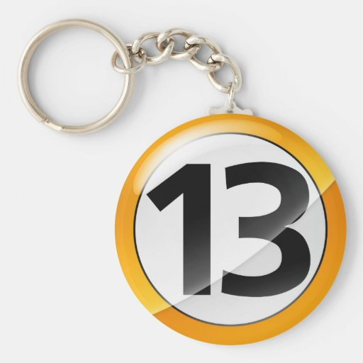 Number 13 gold Key Chain