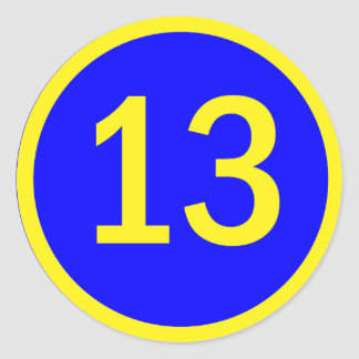 number 13 in a circle stickers