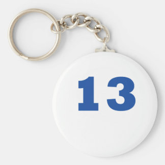 Number 13 keychain