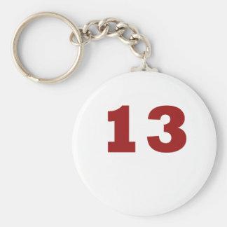 Number 13! keychain