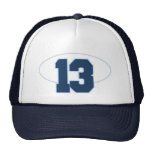 Number 13 mesh hat
