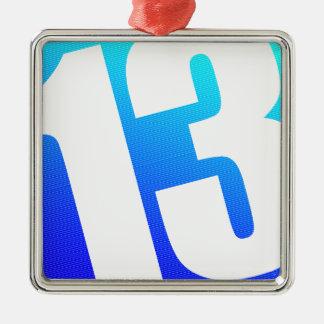 Number 13 metal ornament