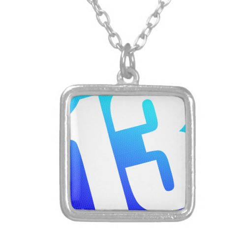 Number 13 pendants