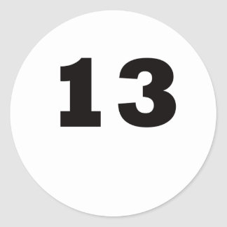 Number 13! round stickers