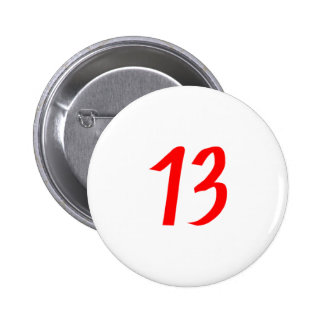 Number 13 thirteen red color pins