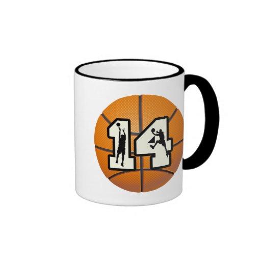 Number 14 Basketball and Players Mug