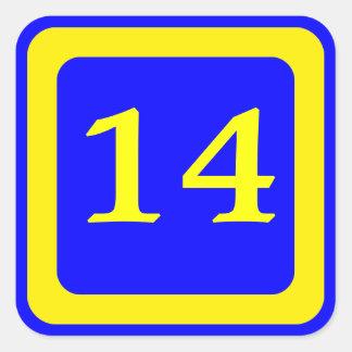 Blue Number 14