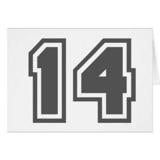 Number 14 greeting card