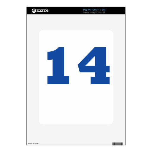 Number 14! decal for the iPad