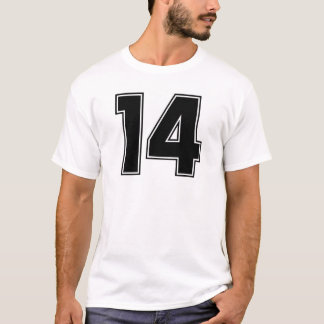 Number 14 frontside print T-Shirt