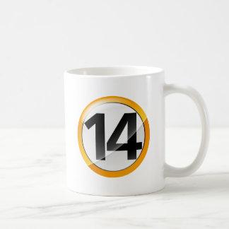 Number 14 gold Classic White Mug