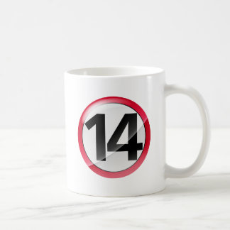 Number 14 red Classic White Mug