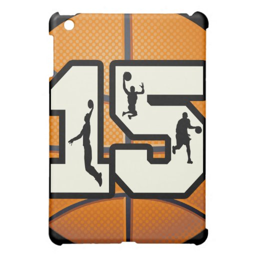 Number 15 Basketball and Players Case For The iPad Mini