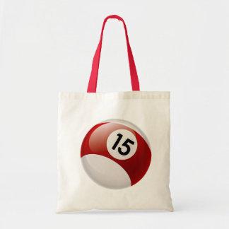 NUMBER 15 BILLARDS BALL TOTE BAG