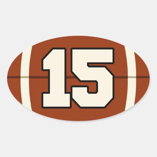 Number 15 Football Sticker. | Zazzle
